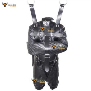 Cow Leather Bondage Suspension Suit Latigo Leather Belts Welded D Rings Bespoke