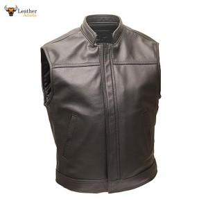 Superb Quality 100% Cows Leather Biker Style Waistcoat Vest Most Sizes