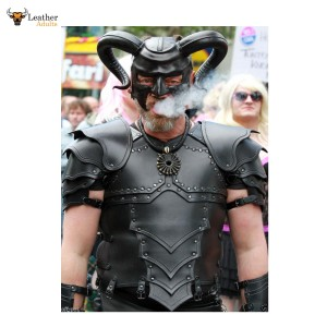 Roman / Samurai /GOTH LEATHER Body Armour Cuirass LARP Most Sizes Available