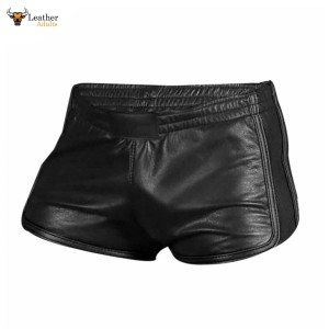 MEN'S 100% GENUINE LAMBS LEATHER SILKY SOFT BOXER SHORTS *NEW*
