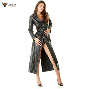 Very Sexy Ladies Pure Buttersoft Leather Full Length Trench Coat