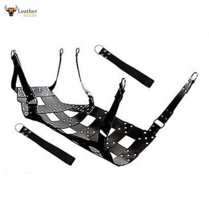 HEAVY DUTY LEATHER SEX SWING / SLING with STIRRUPS Frame or Ceiling mountable