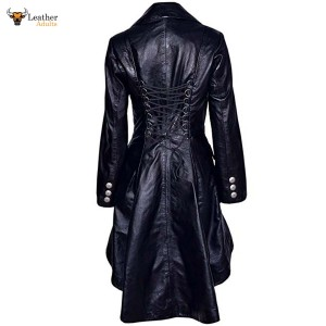 Beautiful and Sexy LAMBS Leather Gothic, Goth Ladies Trench Coat