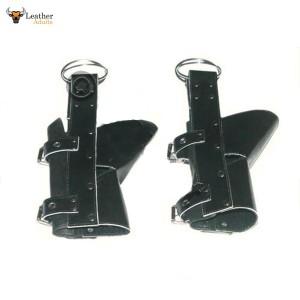 Heavy Duty Pure Chrome Leather ANKLE / BOOT Suspension Cuffs Bondage (CUFFS1)