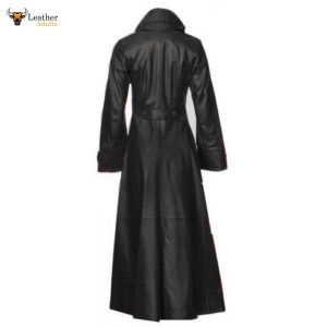 Beautiful and Sexy LAMBS LEATHER Ladies Steampunk GOTH Trench Coat