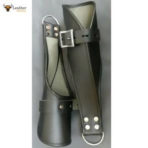 Real Leather Suspension Hand Cuffs Gay Bondage Restraints Heavy Duty