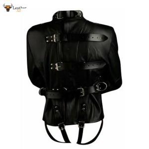 Mens Genuine Leather Heavy Duty Straitjacket Leather Straitjacket BONDAGE